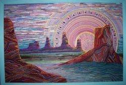 SOLD - Amethyst Sunset - 36 x 24