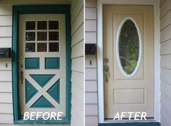 New Exterior Door with Decorative Glass