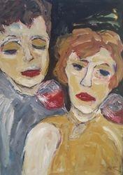 """Dream of red Wine"" Acryl auf Leinwand 100x70"