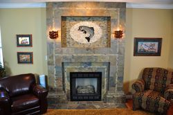 Tile Fish Mural Fireplace