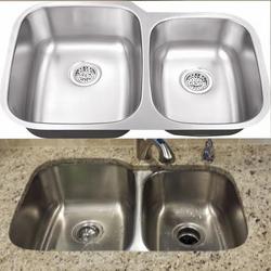 60/40 Stainless steel undermount sink