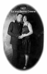 Ed and Bertha Greene 1927