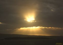 Sunrays over Partridge Island, Saint John NB