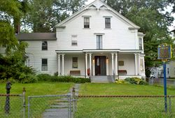 The front of the famous home in Lansingburgh, NY