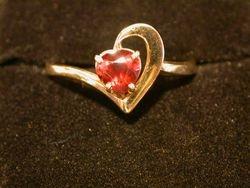 Ruby Half Heart Ring