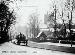 Handsworth Church. Winter 1903.