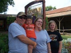 Michael, Sterling, Monica and Logan in Gruene