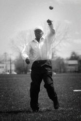 Ted Toles Throws First Pitch
