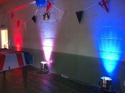 Uplighters for Queens Jubilee 2012