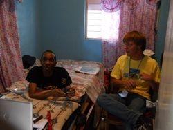 Steven and Alexander-a gunshot victim paralyzed from the waist down