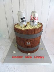 Beer Bucket Birthday Cake