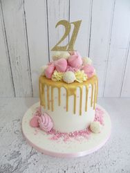 21st Birthday Drip Cake