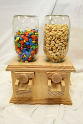 Double Wooden Candy Dispenser