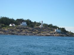 Discovery Island lighthouse.