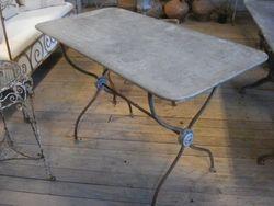 #14/Metal Rec.Table Zinc Top SOLD