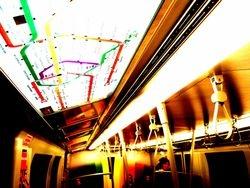 Inside U bahn train