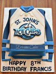 St John's Icecaps Jersey cake