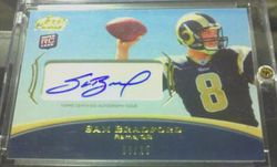 2010 Topps Prime Sam Bradford Rookie Card AUTO #'d 8 of 25 !!!