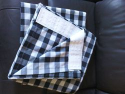 Black and White Gingham  Pencil Pleat Curtains
