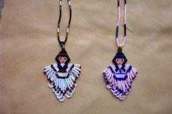 Brick Stitch Indian Girl Pendants
