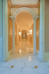 Gilded Hallway to Study and Conference Room