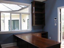 desk and upper bookcase