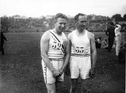 Charles Paddock and Jackson Scholz