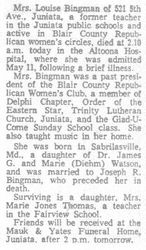 Bingman, Louise Watson 1962