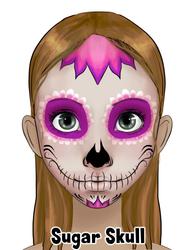 Pink Sugar Skull Design