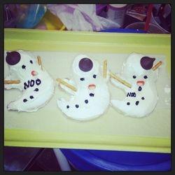Melting snow man Cookies