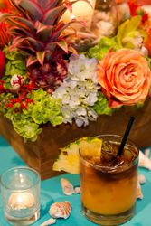 Centerpiece and Mai Tai