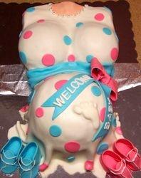 Baby Shower baby bump cake
