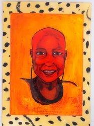 Reverse art: Xhosa girl