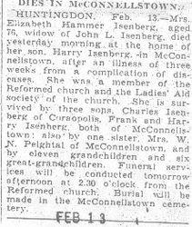 Isenberg, Elizabeth Hammer 1932