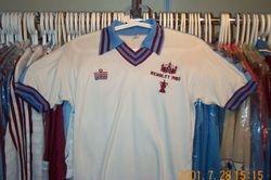 David Cross worn 1980 FA Cup Final shirt worn # 9 vs Arsenal 10th May at Wemblet