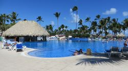 Pool near beach at Bahia Principe