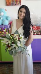 Funky modern bride's bouquet