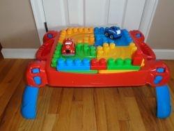 MegaBloks Play 'n Go Table with Blocks & Cars - $30