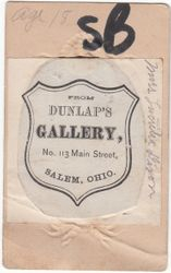 Dunlap's of Salem, Ohio - back
