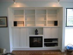 AFTER - Built in Media Center & Bookshelves