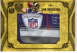 2010 Topps Supreme SAM BRADFORD NFL Logo Patch #1/1!!!!