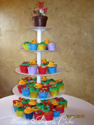CC16 -Garden-themed Cupcake Tower