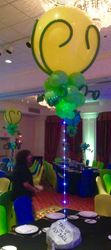 Balloon Centerpiece with lights for Bar Mitzvah