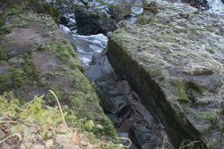 Stonebyres Linn Mill rock cut lade