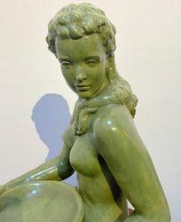 Green women Vienna Porcelain circa 1930