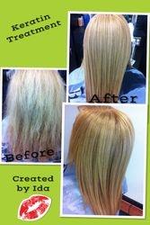 Color, Haircut, and Keratin Treatment by Ida