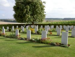 The War Grave on the outskirts of Grandcourt