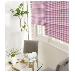 PLAIND  CORDLESS ROMAN SHADE WITH BLACKOUT LINING