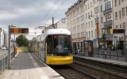 Flexity no. 8006 calling at Ottobraunstraße.