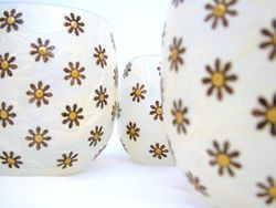 Cream and Brown Daisies